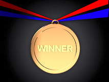 Winner medal Royalty Free Stock Images