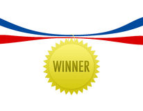 Winner Medal. A gold medal or badge Stock Photography