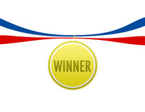 Winner Medal. A gold medal or badge Royalty Free Stock Image