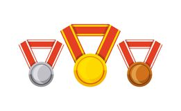 Winner medal isolated icon. Vector illustration design Royalty Free Stock Photo