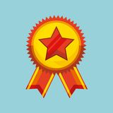 Winner medal isolated icon. Vector illustration design Royalty Free Stock Photos