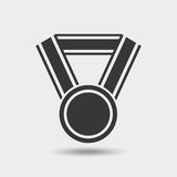 Winner medal isolated icon. Vector illustration design Stock Images