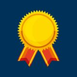 Winner medal isolated icon. Vector illustration design Royalty Free Stock Image