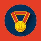Winner medal isolated icon. Vector illustration design Stock Photography