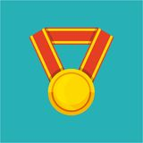 Winner medal isolated icon. Vector illustration design Royalty Free Stock Images