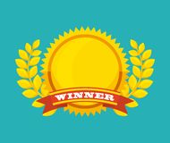 Winner medal isolated icon. Vector illustration design Stock Photo