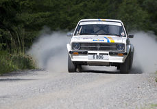 The winner of Midnight Sun Rally 2011 Stock Photography