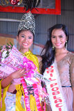 Winner of Miss Daliao 2014. DAVAO-PHILIPPINES: MAY 1st: Runners on Miss Daliao 2014 on May 1st, 2014 in Brangay Hall Toril, district of Davao, Philippines. The Royalty Free Stock Photos