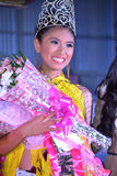 Winner of Miss Daliao 2014. DAVAO-PHILIPPINES: MAY 1st: Runners on Miss Daliao 2014 on May 1st, 2014 in Brangay Hall Toril, district of Davao, Philippines. The Stock Image