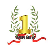 Winner Number one Stock Photo