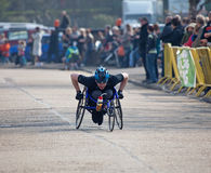 Winner Paddock Wood Wheelchair Race Royalty Free Stock Images