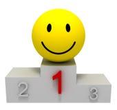 Winner on pedestal Stock Image