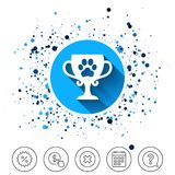 Winner pets cup sign icon  Royalty Free Stock Photos