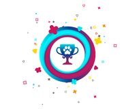Winner pets cup sign icon. Trophy for pets. stock illustration