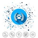 Winner pets laurel wreath sign icon. Stock Images