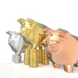 Winner piggy bank Stock Image