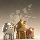 Winner piggy bank Stock Photos