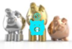 Winner piggy bank Stock Photography