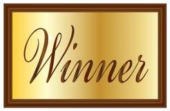 Winner Plaque Royalty Free Stock Image