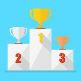 Winner podium on blue Royalty Free Stock Image