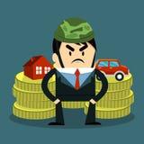 Winner podium. Of businessman for Real Estate Stock Images