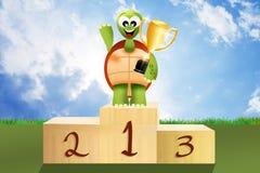 Winner on podium Royalty Free Stock Image