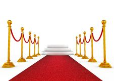 Winner podium with red carpet Royalty Free Stock Photography