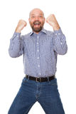Winner pose Royalty Free Stock Photo