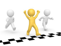 Winner of the race Royalty Free Stock Images