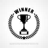Winner retro emblem Stock Photography