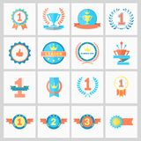 Winner Ribbons. First Place Badges and Winner Ribbons vector illustration Royalty Free Stock Images