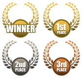 Winner Ribbons Royalty Free Stock Photo