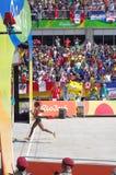 Winner of Rio2016 women marathon run Royalty Free Stock Photos