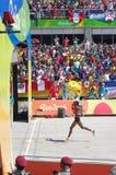 Winner of Rio2016 women marathon run Stock Photography