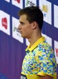 The winner ROMANCHUK Mykhailo UKR. Hong Kong, China - Oct 29, 2016. The winner ROMANCHUK Mykhailo UKR at the Victory Ceremony of  the Men`s Freestyle 400m. FINA Royalty Free Stock Photos