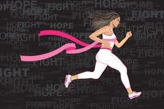Winner Running Woman Royalty Free Stock Photos