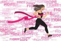 Winner Running Woman Stock Photo