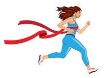 Winner Running Woman Stock Image
