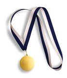 Winner's gold medal Stock Images
