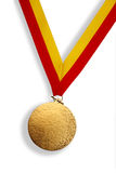Winner's gold medal Stock Image