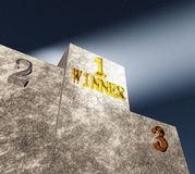 The winner's podium Royalty Free Stock Image