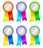Winner's rosettes2. Winner's rosettes on white background Stock Image
