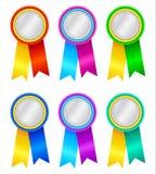 Winner's rosettes2 Stock Image