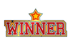 Winner. Sign with shiny star shape Royalty Free Stock Photography
