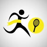 Winner silhouette sport tennis icon Stock Photos