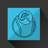 Winner silhouette sport tennis icon Royalty Free Stock Image