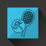 Winner silhouette sport tennis icon Stock Images