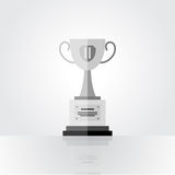 Winner silver cup, second place. Winner silver cup illustration, second place Stock Images
