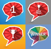 Winner speech bubbles Royalty Free Stock Images