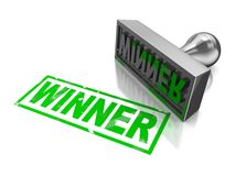 Winner stamp Royalty Free Stock Photography